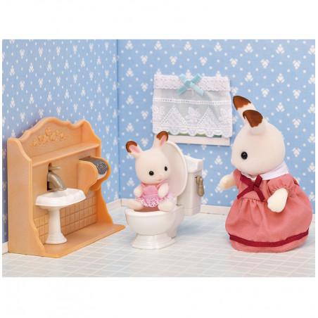 Le set d'ameublement pour cosy cottage et maman lapin chocolat de Sylvanian Family - 2