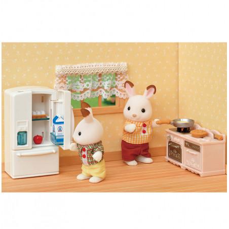 Le set d'ameublement pour cosy cottage et maman lapin chocolat de Sylvanian Family - 3