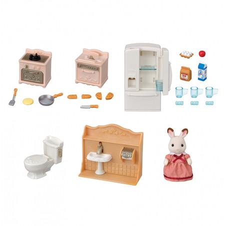 Le set d'ameublement pour cosy cottage et maman lapin chocolat de Sylvanian Family - 9