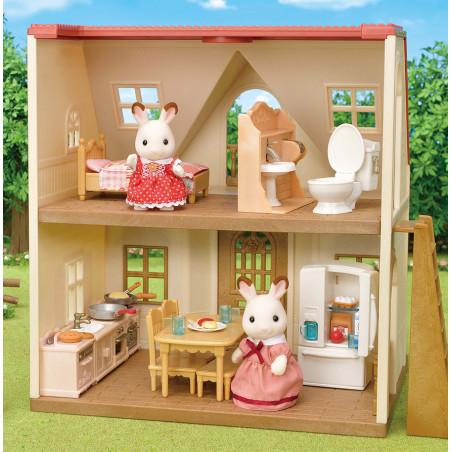 Le set d'ameublement pour cosy cottage et maman lapin chocolat de Sylvanian Family - 1
