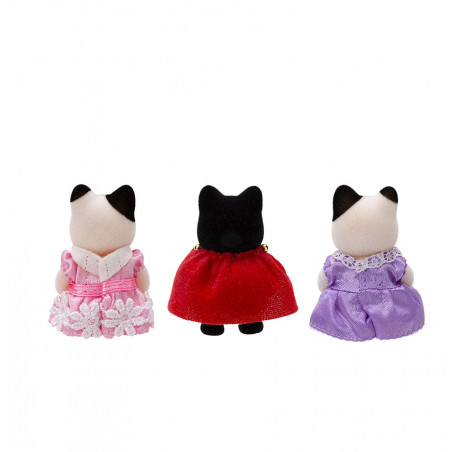 Le trio des bébés en costumes de prince et princesses de Sylvanian Family - 2
