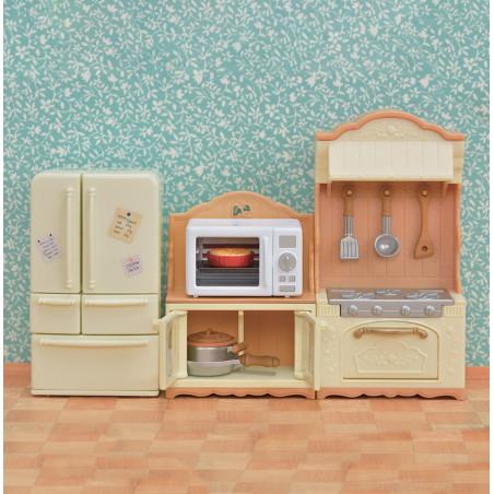 Le buffet et micro-ondes de Sylvanian Family - 4