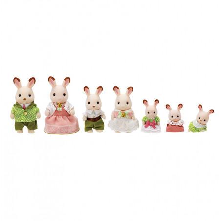 La famille lapin chocolat - ÉDITION PRESTIGE de Sylvanian Family - 1