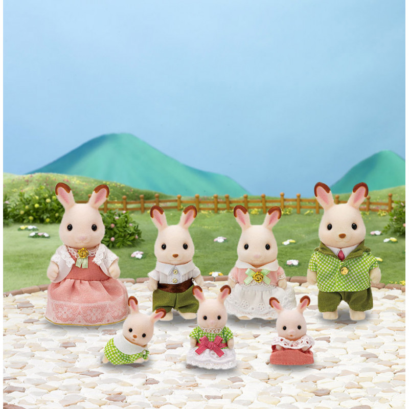 La famille lapin chocolat - ÉDITION PRESTIGE Sylvanian Family
