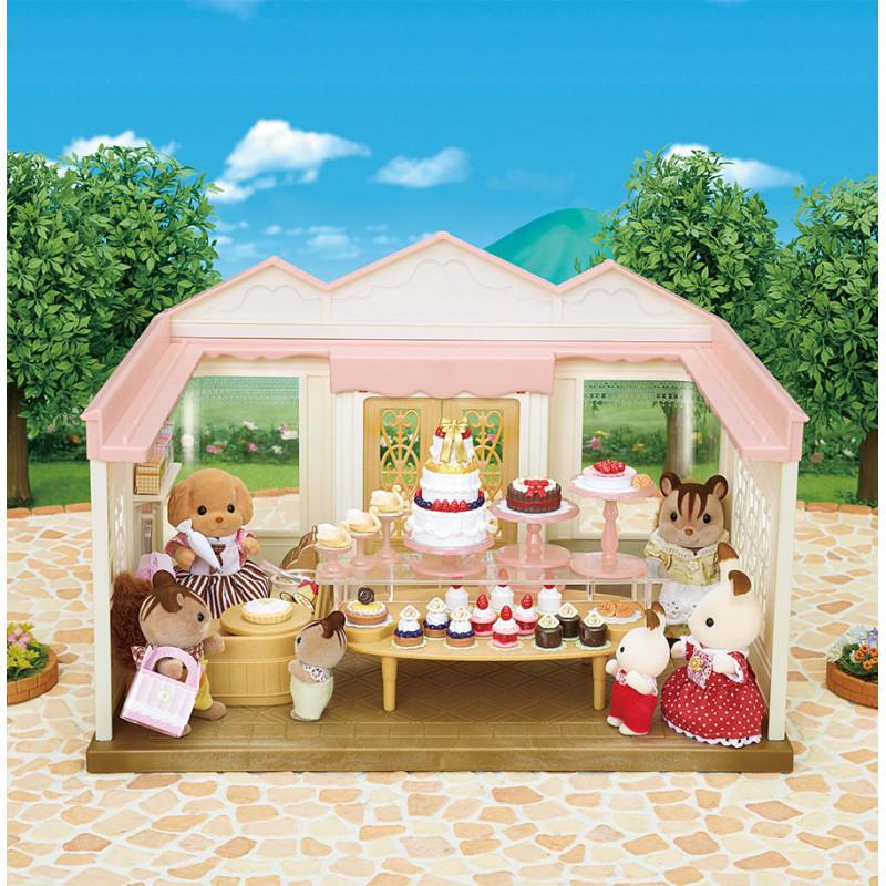 La boutique de gâteaux et maman caniche Sylvanian Family