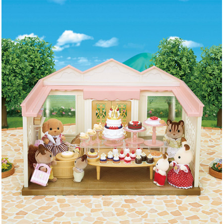 La boutique de gâteaux et maman caniche de Sylvanian Family