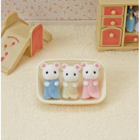 Les triplés souris marshmallow de Sylvanian Family