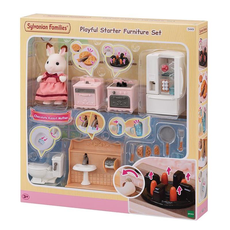Le set d'ameublement pour cosy cottage et maman lapin chocolat Sylvanian Family