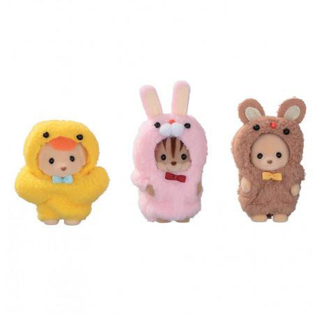 Le trio des bébés en costumes de mascottes de Sylvanian Family - 1